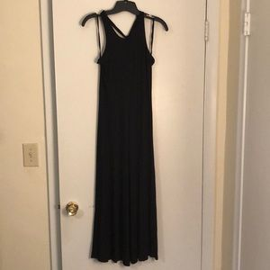 3/4 black casual dress
